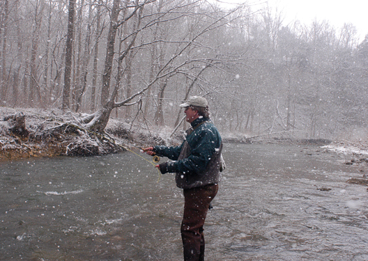 Enjoy seasonal catch and release trout streams this winter