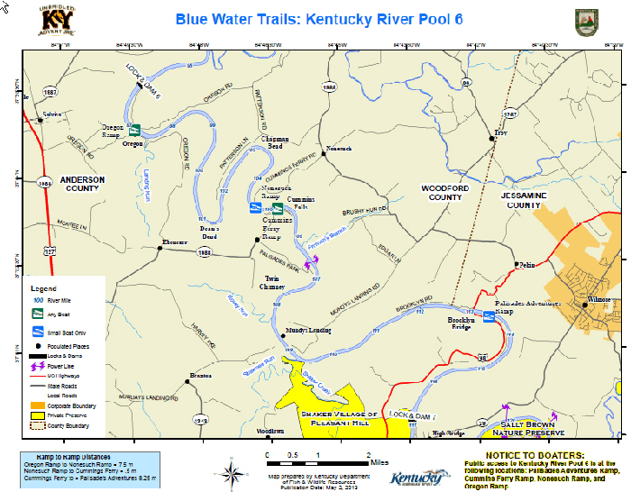 Blue Water Trails, Pool 6 – Kentucky River.