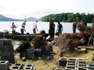 Cave Run Lake Habitat Project Underway