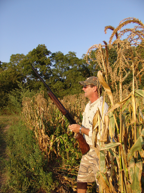 Kentucky Afield television host Tim Farmer waits for doves on a September hunt in Franklin County several years ago. Selecting a first shotgun mainly involves cost, ease of use and proper fit.