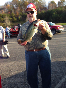 Melvin Lawhorn holds a nice bass caught at Yatesville Lake the past week. (photo submitted)