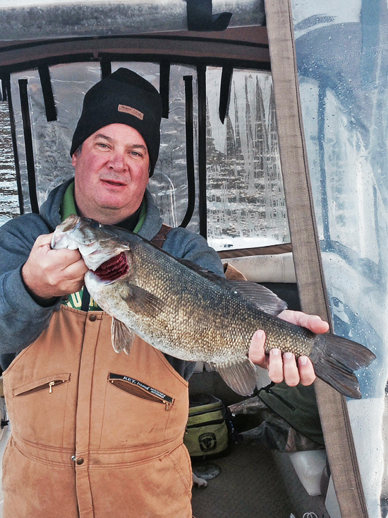 Reservoir smallmouth bass don't mind the cold fronts