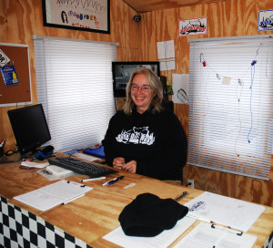 Carole Sexton works at the Rush Off Road trailhead office to assist members and answer questions about the ATV park. (Photo by Chris Erwin)