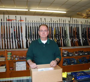 Bud Stevens owner of Stevens Gun & Pawn has been in the shooting business for over 40 years his new store has been open for three years on U.S. 60.  (Photo by Chris Erwin)