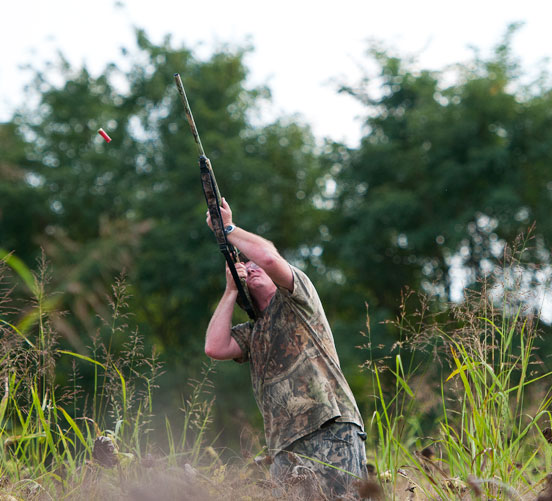 Lawrenceburg resident David Yancy swings after a dove during a hunt on a private field in Franklin County last year. Before pursuing any migratory birds this season, hunters must complete the Harvest Information Program (H.I.P.) survey and obtain a confirmation number. The H.I.P. survey gives biologists better data to make more informed management decisions to keep populations of migratory birds, including doves, ducks and geese, bountiful in the future.
