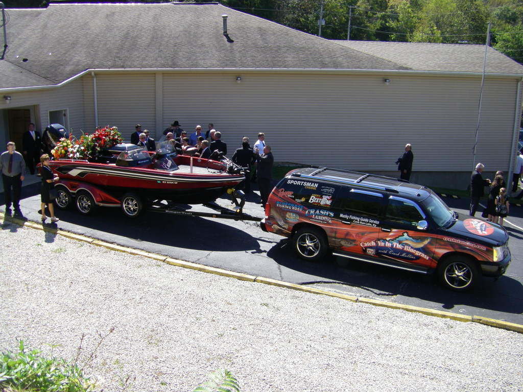 "David ""Crash"" Mullins takes his last boat ride as he is put to rest in Olive Hill, Ky. (Photo Submitted)"