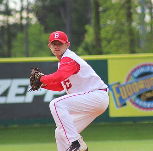 Dylan Gifford from Boyd County High School winds up to pitch a game for the Boyd County Lions Baseball team. (Photo submitted)